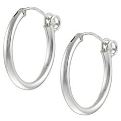 Journee Collection  Sterling Silver Hoop Earrings