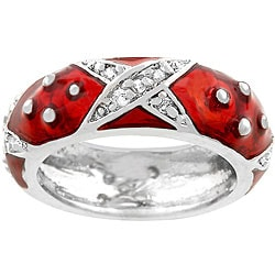Kate Bissett Boogie Down Red Enamel Ring