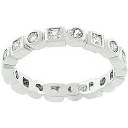 Kate Bissett Hollywood Stackable Cubic Zirconia Eternity Ring