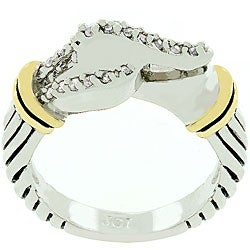 Kate Bissett Two-tone Metal Buckle Ring
