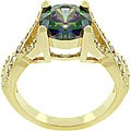 Kate Bissett 14k Yellow Gold Bonded Mystique CZ Ring