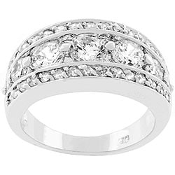 Kate Bissett Silvertone 'Illumination' Cubic Zirconia Ring
