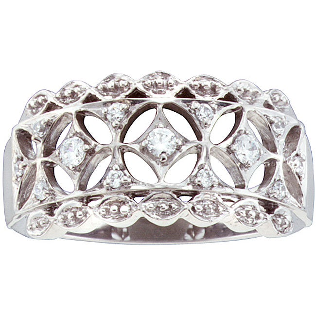 Sterling Silver 1/6ct TDW Diamond Fahion Ring (H-I, I2-I3)