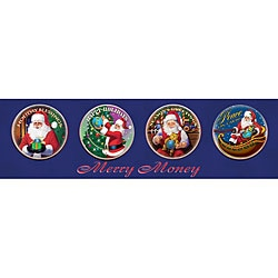 American Coin Treasures Santa Claus Merry Money Coin Collection