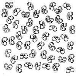 Beadaholique Surgical Steel Medium Earnut Earring Backs (50 pairs)