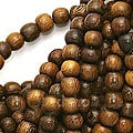 Beadaholique Round Brown 6-6.5 mm Wood Beads (16-inch strand)