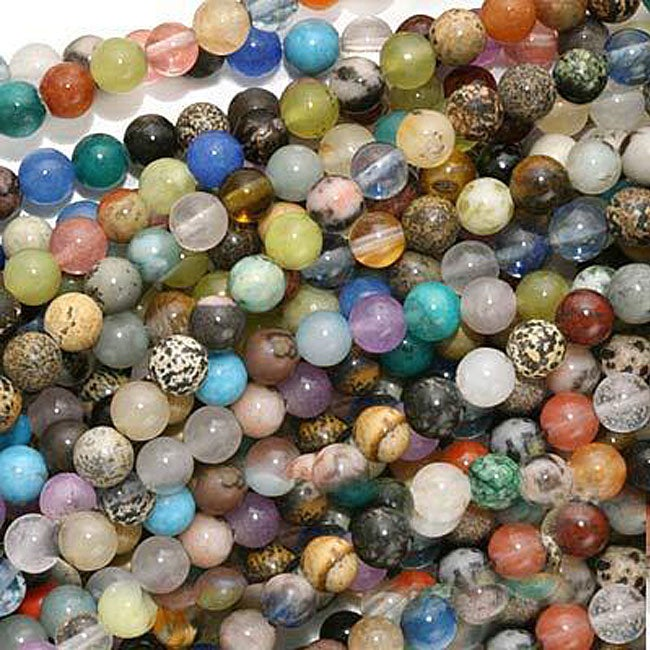 Beadaholique Gemstone 4-mm Round Bead Lot Mix (Case of 100)