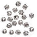 Beadaholique Silverplated 6-mm Filigree Round Beads (Case of 100)