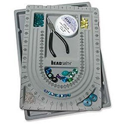 Beadaholique Gray Flock Bead Design Beading Board With Lid