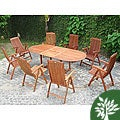 Vista 9-piece Dining Set w/ Folding Chairs