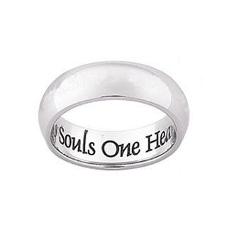 Stainless Steel 'Two Souls' Engraved Message Band