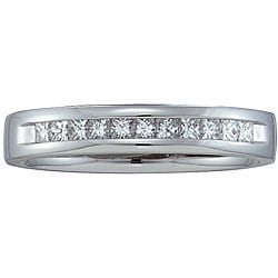 14k White Gold 1/4ct TDW Diamond Band (H-I, I1)