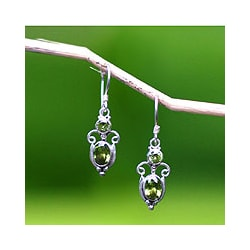 Peridot 'Crown Princess' Earrings (Indonesia)