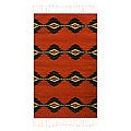 'Red Lightning' Zapotec Wool Rug (2' x 3')
