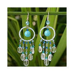 Topaz 'Azure Dreamcatcher' Earrings (Thailand)