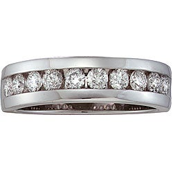 14k Gold Men's 1ct TDW Diamond Band