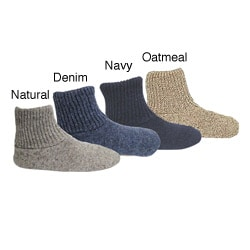 Muk Luks Men's Ragg Wool Nonslip Slipper Socks
