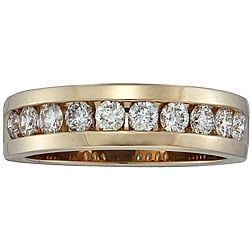 14k Yellow Gold Men's 1ct TDW Diamond Band (H-I, I1)