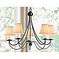 Black Iron 5-light Chandelier