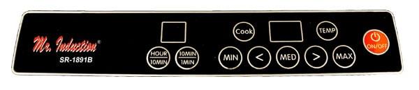 Portable 1300-watt Induction Cooktop