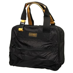 A.Saks Black Deluxe Expandable Shoulder Tote Bag