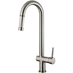 VIGO Stainless Steel Pull-Out Kitchen Faucet