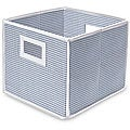 Blue Gingham Folding Storage Cubes (Pack of 3)