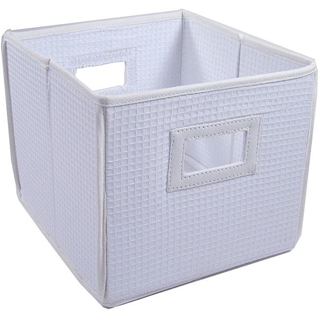 White Folding Storage Cubes (Set of 3)