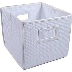 White Folding Storage Cubes (Set of 3)