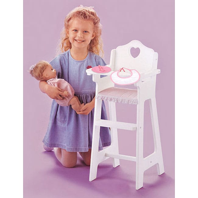 Doll High Chair and Accessory Set