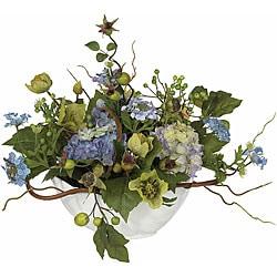 Hydrangea Silk Flower Centerpiece Arrangement