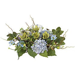 Hydrangea Candleabrum Silk Flower Arrangement
