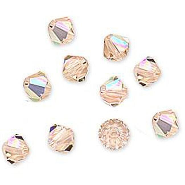 Beadaholique Silk AB Austrian Crystal 4 mm Bicone Beads (Case of 50)