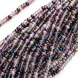 Beadaholique Czech Lilac Purples Mixed Lot 11/0 Seed Beads (Case of 2000)