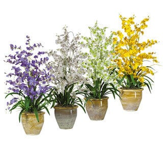 Triple Dancing Lady Silk Flower Arrangement