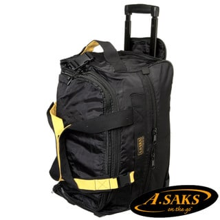 A.Saks Lightweight Expandable 20-inch Carry-On Rolling Upright Duffel Bag