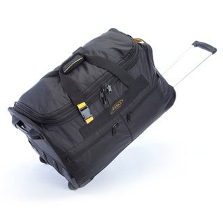 A.Saks 25-inch Expandable Wheeled Upright Duffel Bag