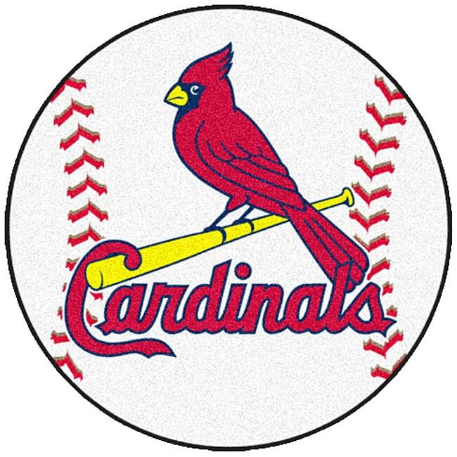 Baseball Rug: Fanmats MLB St Louis Cardinals Baseball 27-inch Rug