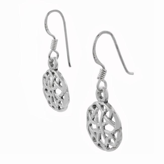 Journee Sterling Silver Celtic Knot Dangling Earrings