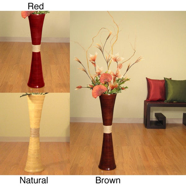 Plantation Floor Vase, Lilies and Curly Willow