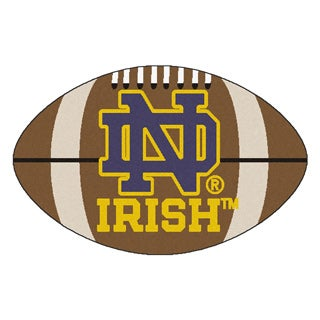 Fanmats NCAA Notre Dame 22x35 Football Mat