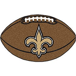New Orleans Saints Football Mat (22 in. x 35 in.)