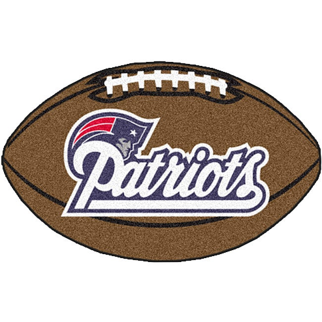 Fanmats Seattle Seahawks 3 Ft X 6 Ft Football Field: Fanmats NFL New England Patriots Football Mat (22 In. X 35