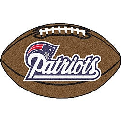 New England Patriots Football Mat (22 in. x 35 in.)