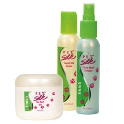 Three-piece Pet Silk Finishing Cologne/Serum/Gel Toiletry Collection