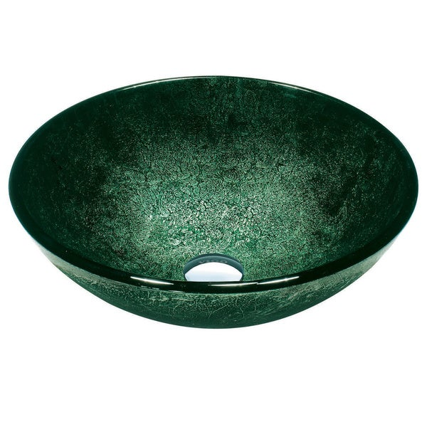 VIGO Emerald Glass Vessel Bathroom Sink