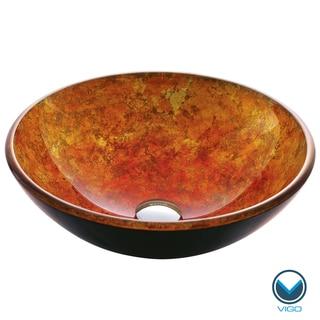 VIGO Livorno Glass Vessel Bathroom Sink