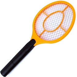 Electronic Triple-layered Battery-operated Bug Zapper/Fly Swatter