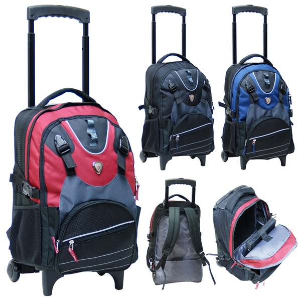 CalPak Champion 18-inch Rolling 14-inch Laptop Backpack