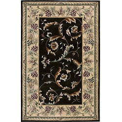 Nourison Hand-tufted Versaille Palace Olive Rug (3'6 x 5'6)